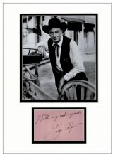 Gary Cooper Autograph Signed Display - High Noon